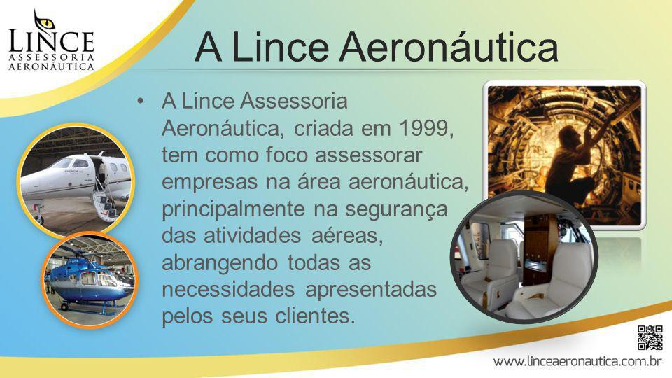 A Lince Assessoria Aeronáutica, criada em 1999, tem como foco assessorar empresas na área aeronáutica, principalmente na segurança das atividades aére