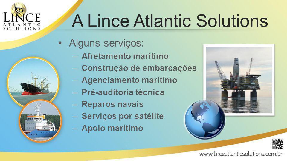 Alguns serviços: –Afretamento marítimo –Construção de embarcações –Agenciamento marítimo –Pré-auditoria técnica –Reparos navais –Serviços por satélite