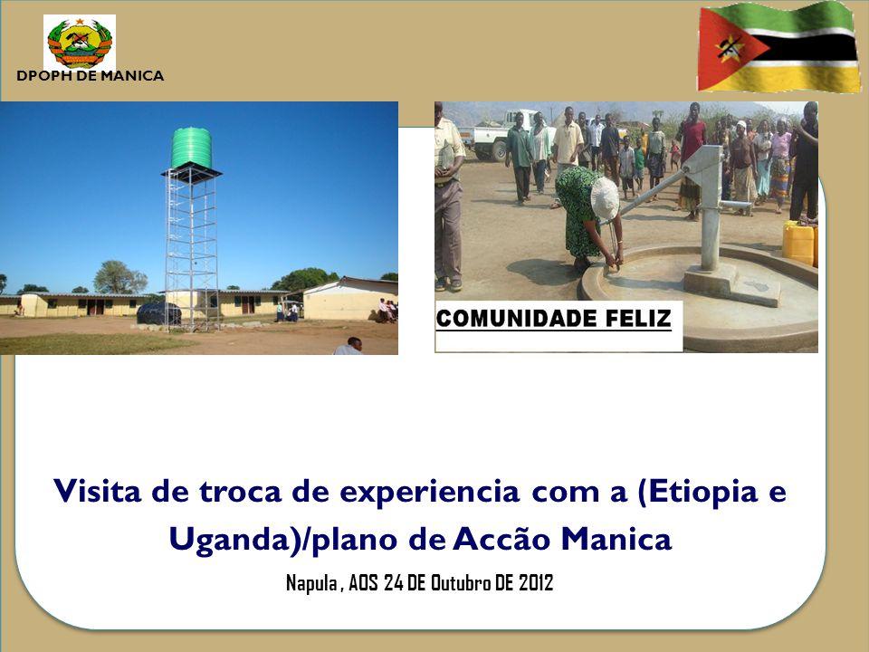 Visita de troca de experiencia com a ( Etiopia e Uganda)/plano de Accão Manica Napula, AOS 24 DE Outubro DE 2012 Visita de troca de experiencia com a