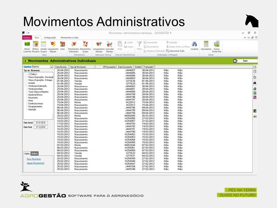 Movimentos Administrativos