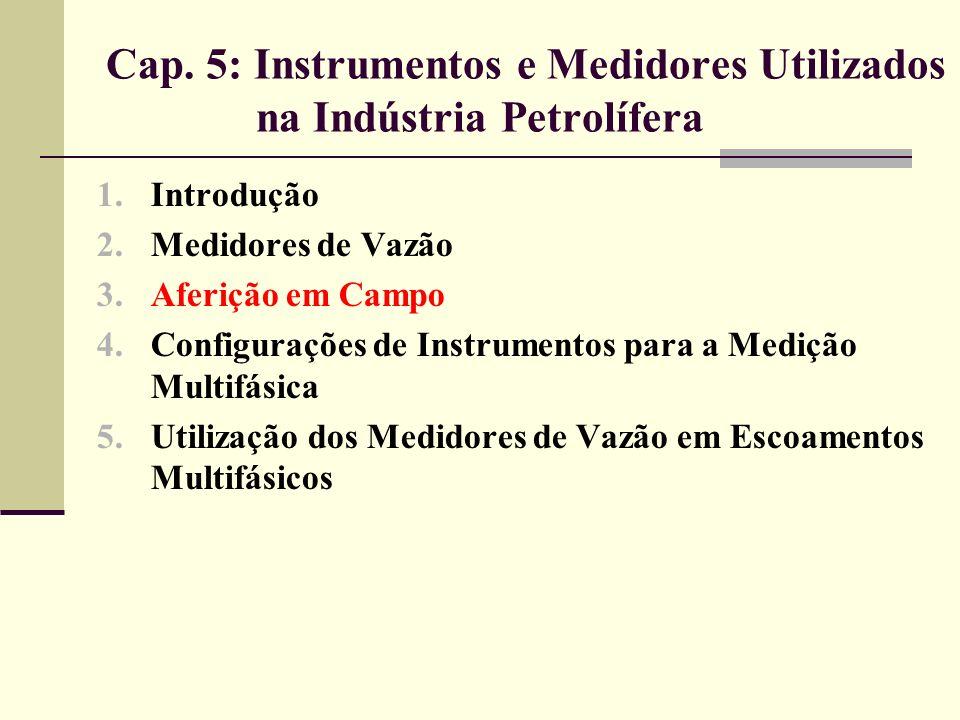 Cap. 5: Instrumentos e Medidores Utilizados na Indústria Petrolífera 1.Introdução 2.Medidores de Vazão 3.Aferição em Campo 4.Configurações de Instrume