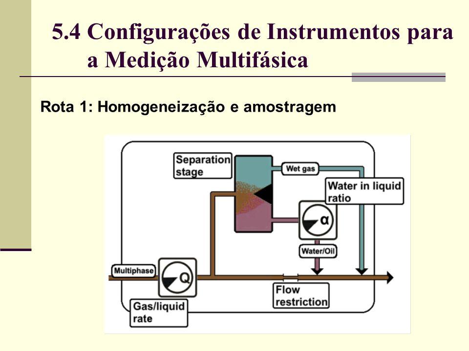 5.4 Configurações de Instrumentos para a Medição Multifásica Rota 1: Homogeneização e amostragem