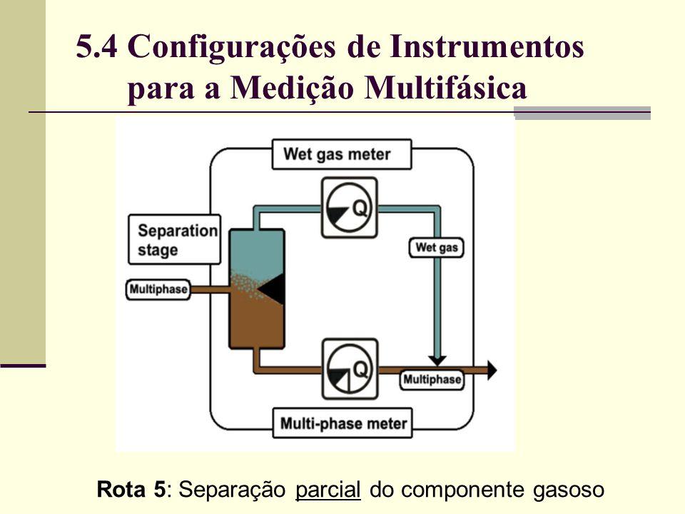 Rota 5: Separação parcial do componente gasoso 5.4 Configurações de Instrumentos para a Medição Multifásica