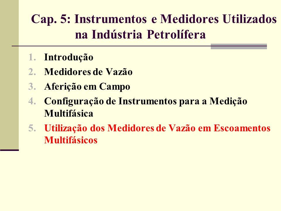 Cap. 5: Instrumentos e Medidores Utilizados na Indústria Petrolífera 1.Introdução 2.Medidores de Vazão 3.Aferição em Campo 4.Configuração de Instrumen