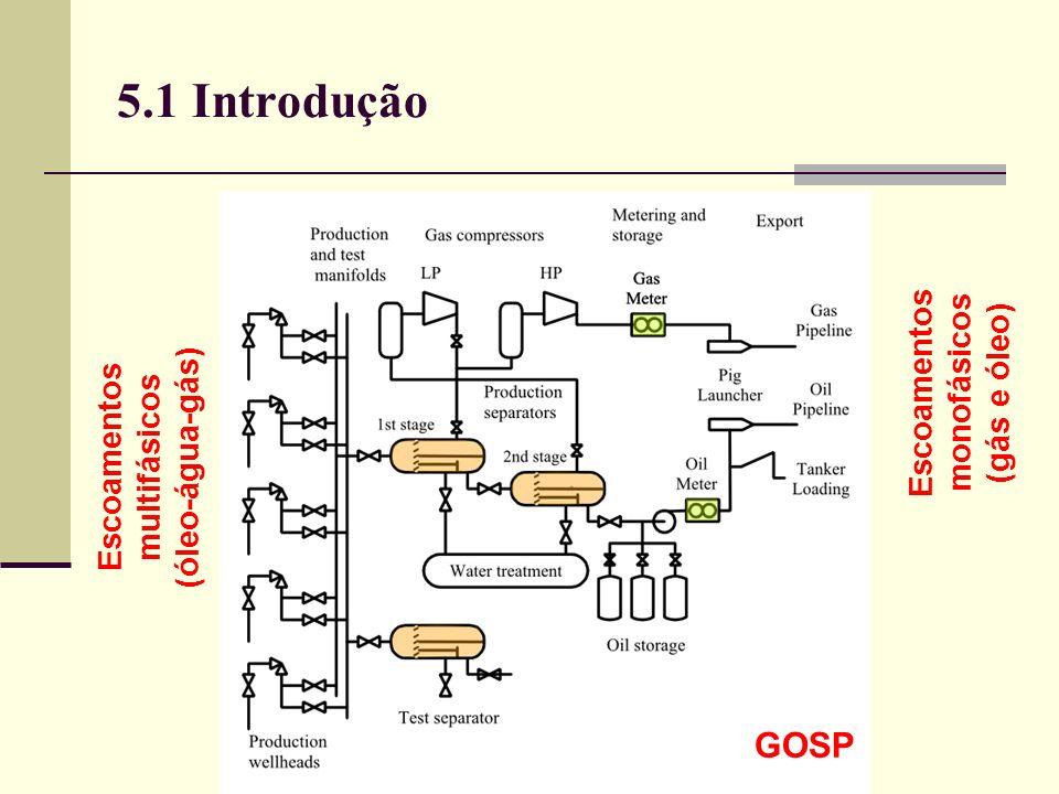 5.1 Introdução GOSP Escoamentos multifásicos (óleo-água-gás) Escoamentos monofásicos (gás e óleo)