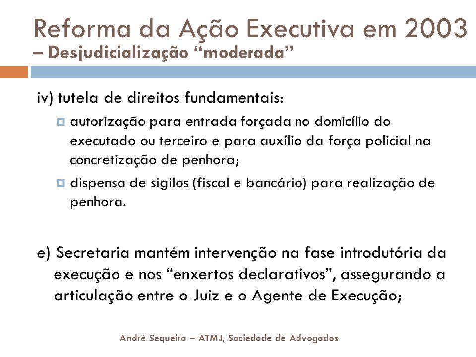 André Sequeira – ATMJ, Sociedade de Advogados iv) tutela de direitos fundamentais: autorização para entrada forçada no domicílio do executado ou terce