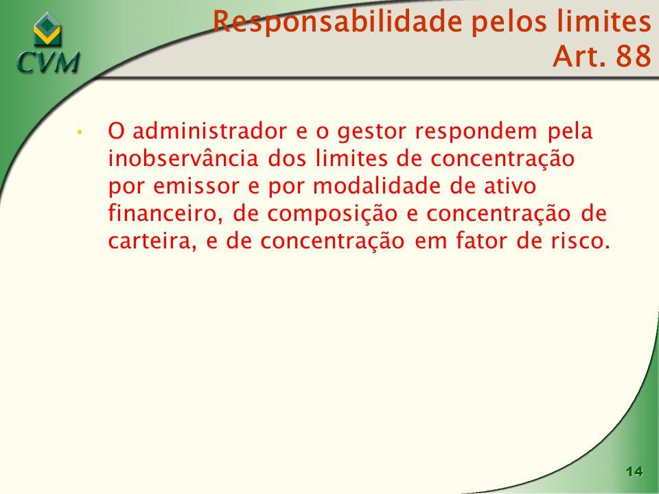 15 Normas de conduta Criação de seção específica com as normas de conduta obrigatórias para o administrador e gestor de fundos de investimento (art.
