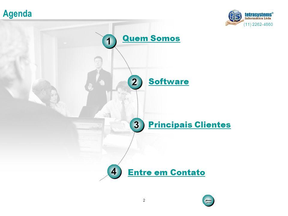 2 Agenda 33 11 Software Entre em Contato Principais Clientes Quem Somos44 22 (11) 2262-4860