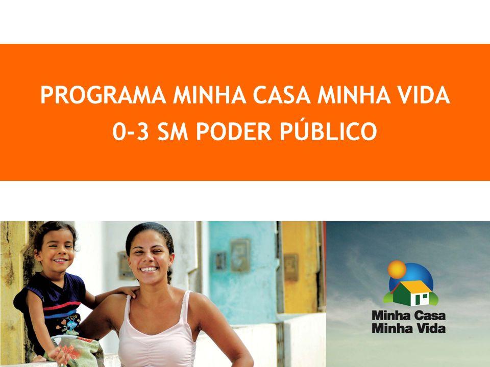 1 PROGRAMA MINHA CASA MINHA VIDA 0-3 SM PODER PÚBLICO