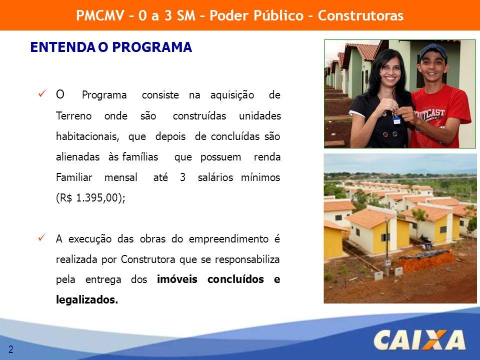 2 O Programa consiste na aquisição de Terreno onde são construídas unidades habitacionais, que depois de concluídas são alienadas às famílias que poss