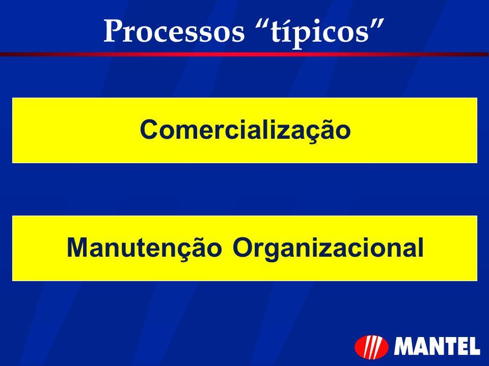 Processos típicos ComercializaçãoManutenção Organizacional