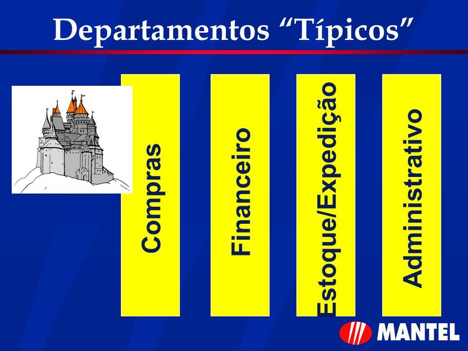 Departamentos Típicos Compras Financeiro Estoque/Expedição Administrativo