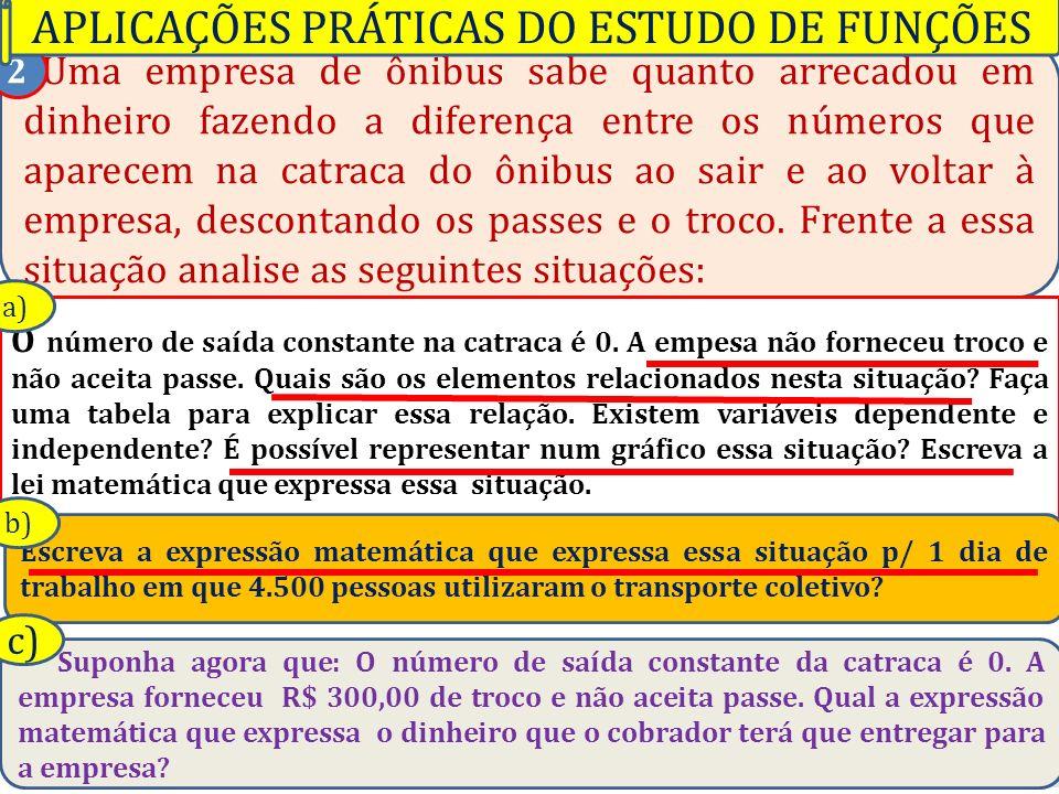 Professor Vilson Schwantes - www.pvilson.com.br Uma empresa de ônibus sabe quanto arrecadou em dinheiro fazendo a diferença entre os números que apare