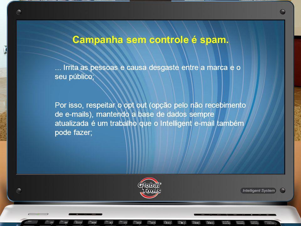 Campanha sem controle é spam.... Irrita as pessoas e causa desgaste entre a marca e o seu público; Por isso, respeitar o opt out (opção pelo não receb