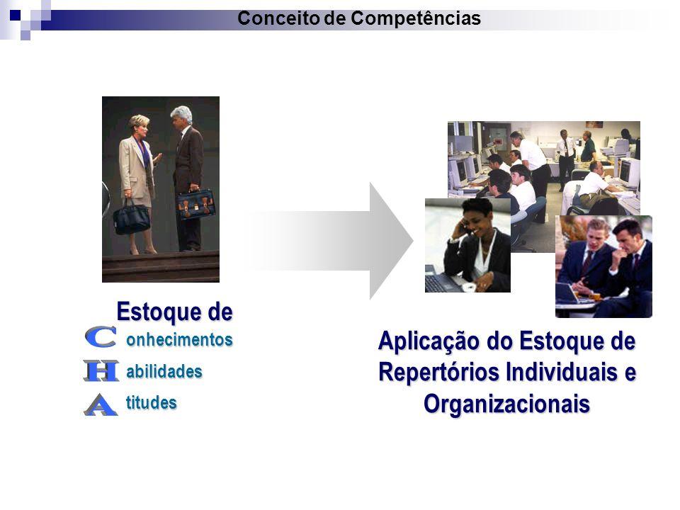 Estoque de onhecimentosabilidadestitudes Aplicação do Estoque de Repertórios Individuais e Organizacionais Conceito de Competências