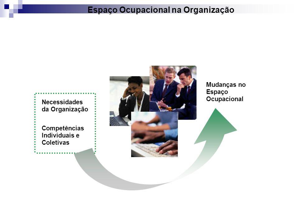 Espaço Ocupacional na Organização Necessidades da Organização Competências Individuais e Coletivas Mudanças no Espaço Ocupacional