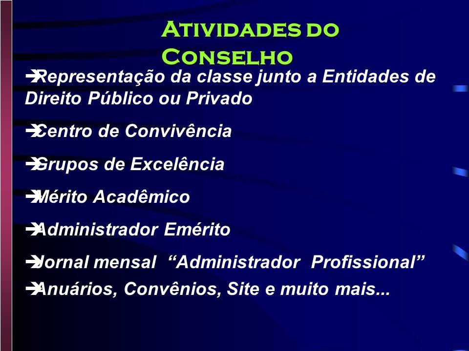 Fiscalizar, na área de respectiva jurisdição, o exercício da Profissão. Organizar e manter o registro dos Administradores. Julgar infrações e impor pe