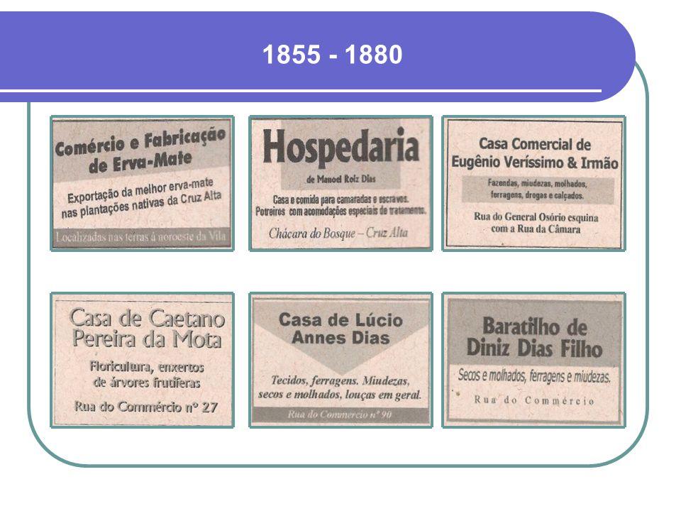 PÁGINAS AMARELAS Nos próximos slides, uma amostra de propagandas dos principais representantes do comércio do Século 19 e início do Século 20, extraíd