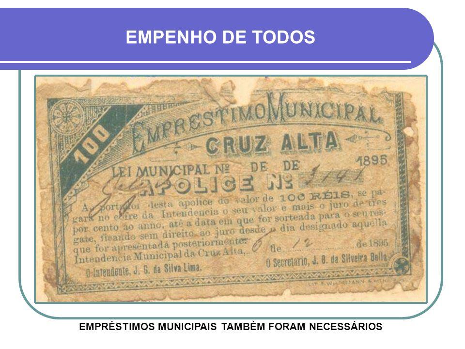 1893 ÁREA ONDE HOJE FICA A ESTAÇÃO FERROVIÁRA ACIMA AS TROPAS DO GENERAL FIRMINO DE PAULA, DURANTE A REVOLUÇÃO FEDERALISTA Estação Férrea