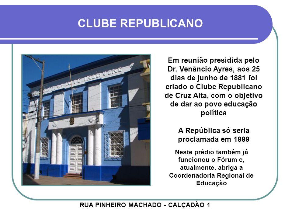 MAÇONARIA Embora a maçonaria tenha se instalado no estado em 1831 (Porto Alegre), desde o início influenciando os rumos da sua história, em Cruz Alta ela começou aos poucos, através de pequenas reuniões particulares na própria moradia dos cidadãos.
