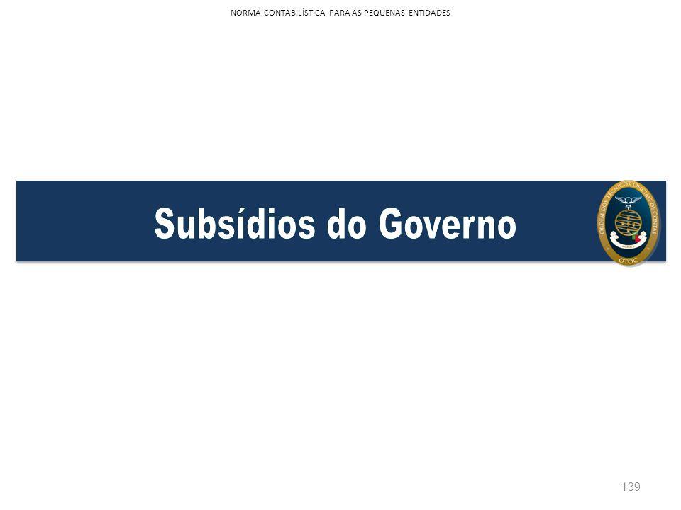 139 NORMA CONTABILÍSTICA PARA AS PEQUENAS ENTIDADES