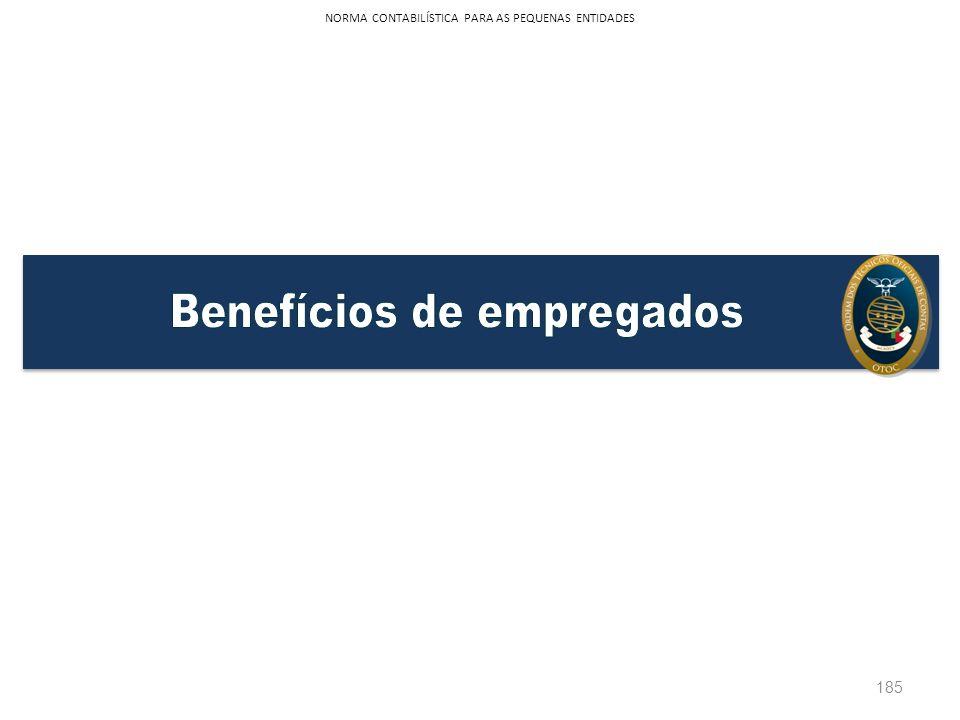 185 NORMA CONTABILÍSTICA PARA AS PEQUENAS ENTIDADES