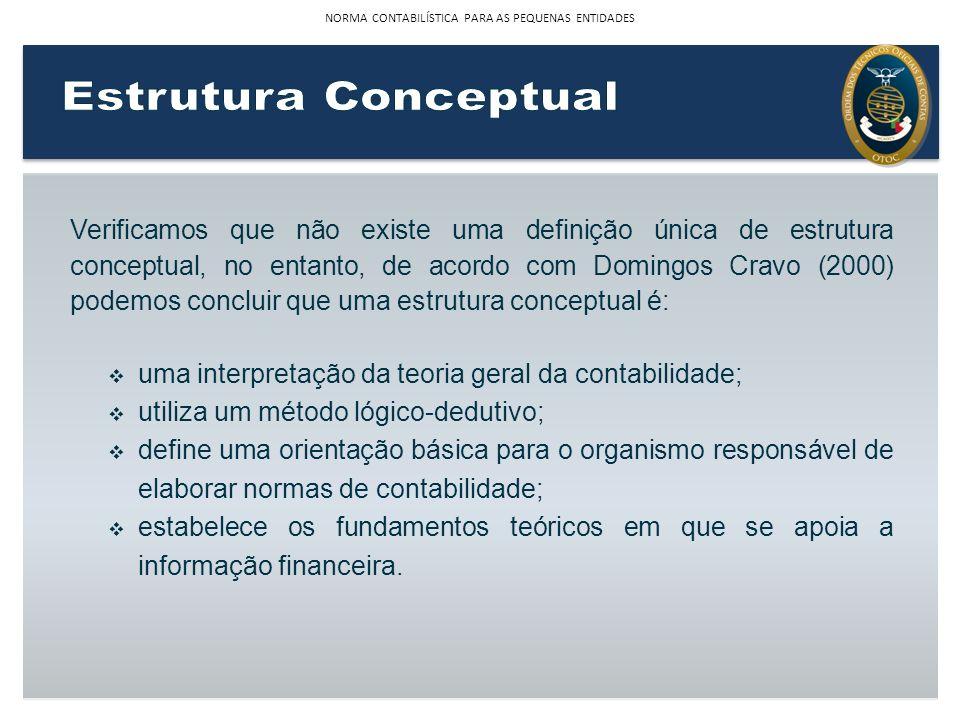 Verificamos que não existe uma definição única de estrutura conceptual, no entanto, de acordo com Domingos Cravo (2000) podemos concluir que uma estru