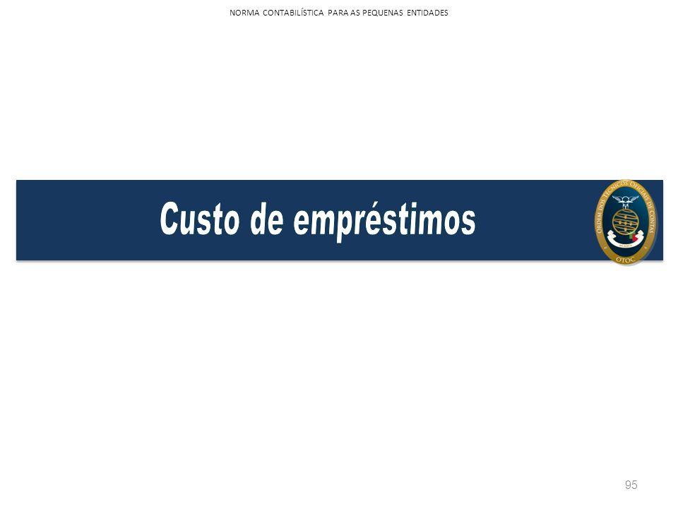 95 NORMA CONTABILÍSTICA PARA AS PEQUENAS ENTIDADES