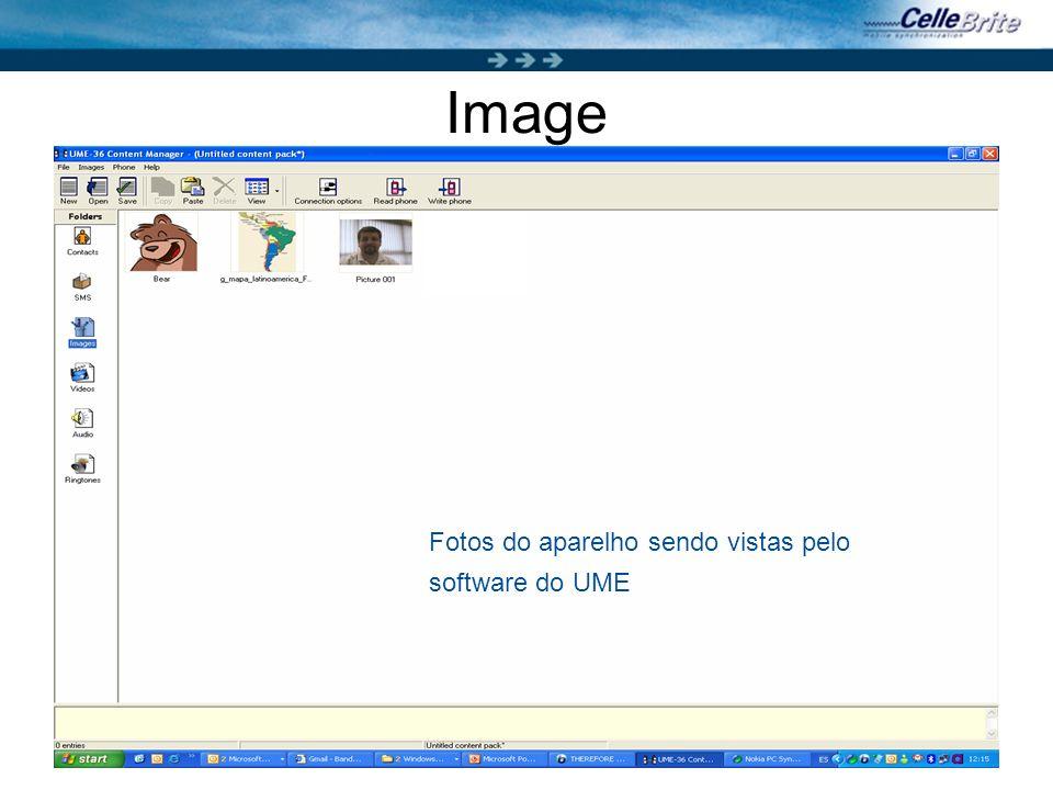 20 Image Fotos do aparelho sendo vistas pelo software do UME