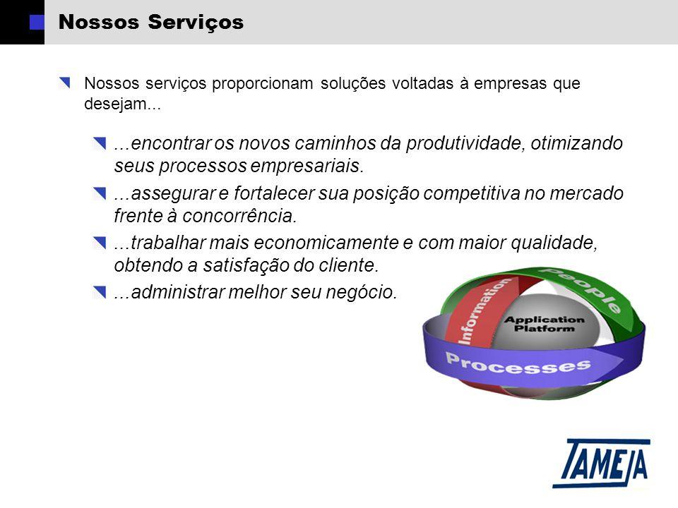 Nossos Serviços Nossos serviços proporcionam soluções voltadas à empresas que desejam......encontrar os novos caminhos da produtividade, otimizando seus processos empresariais....assegurar e fortalecer sua posição competitiva no mercado frente à concorrência....trabalhar mais economicamente e com maior qualidade, obtendo a satisfação do cliente....administrar melhor seu negócio.