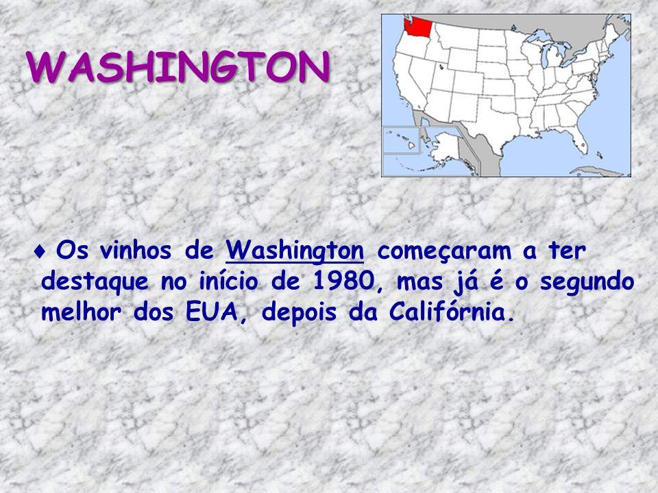WASHINGTON Os vinhos de Washington começaram a ter destaque no início de 1980, mas já é o segundo melhor dos EUA, depois da Califórnia.