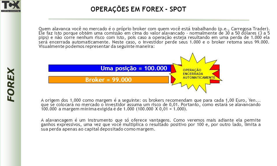 FOREX Quem alavanca você no mercado é o próprio broker com quem você está trabalhando (p.e., Carregosa Trader).
