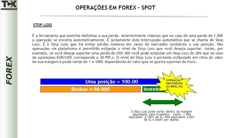 FOREX É a ferramenta que permite delimitar a sua perda. Anteriormente citamos que no caso de uma perda de 1.000 a operação se encerra automaticamente.