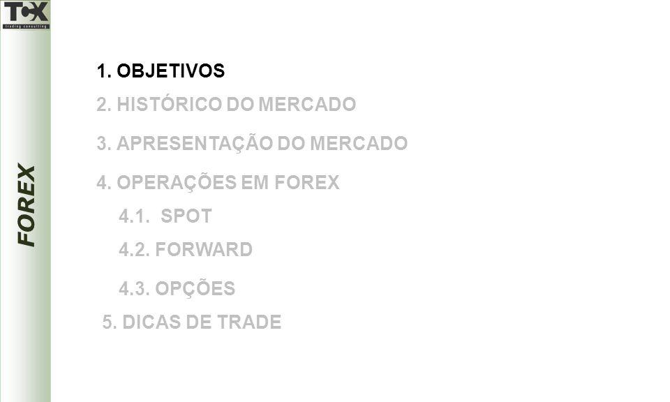 FOREX O MAIOR MERCADO DO MUNDO O FOREX é de longe o maior e o mais líquido mercado do mundo, atingindo diariamente números superiores a 2,0 trilhões de dólares.