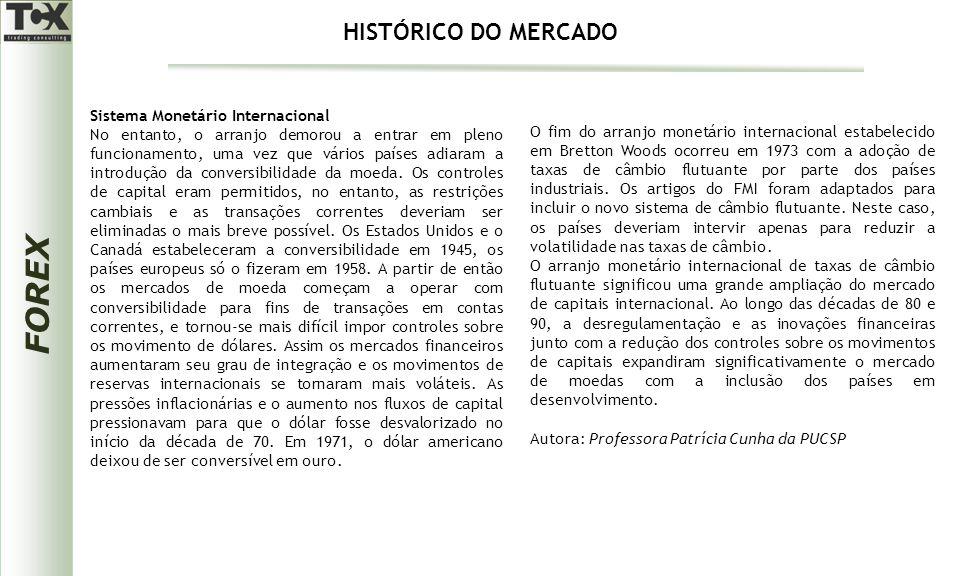FOREX Sistema Monetário Internacional No entanto, o arranjo demorou a entrar em pleno funcionamento, uma vez que vários países adiaram a introdução da