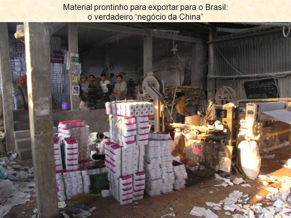 Material prontinho para exportar para o Brasil: o verdadeiro negócio da China
