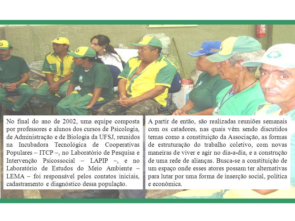 No final do ano de 2002, uma equipe composta por professores e alunos dos cursos de Psicologia, de Administração e de Biologia da UFSJ, reunidos na In
