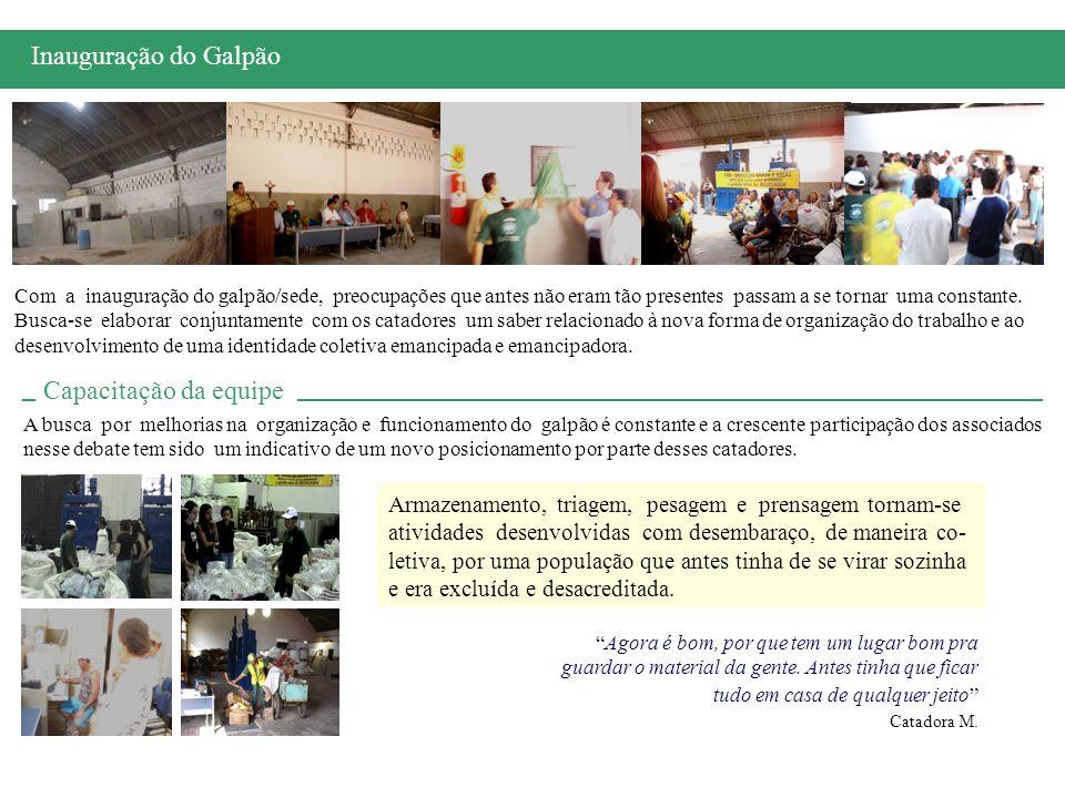 O projeto, que rendeu à ASCAS em 2005 o 10º Prêmio Nacional Banco Real/Unisol, refere-se à proposta de implantação de um piloto de coleta seletiva para o bairro do entorno do galpão.