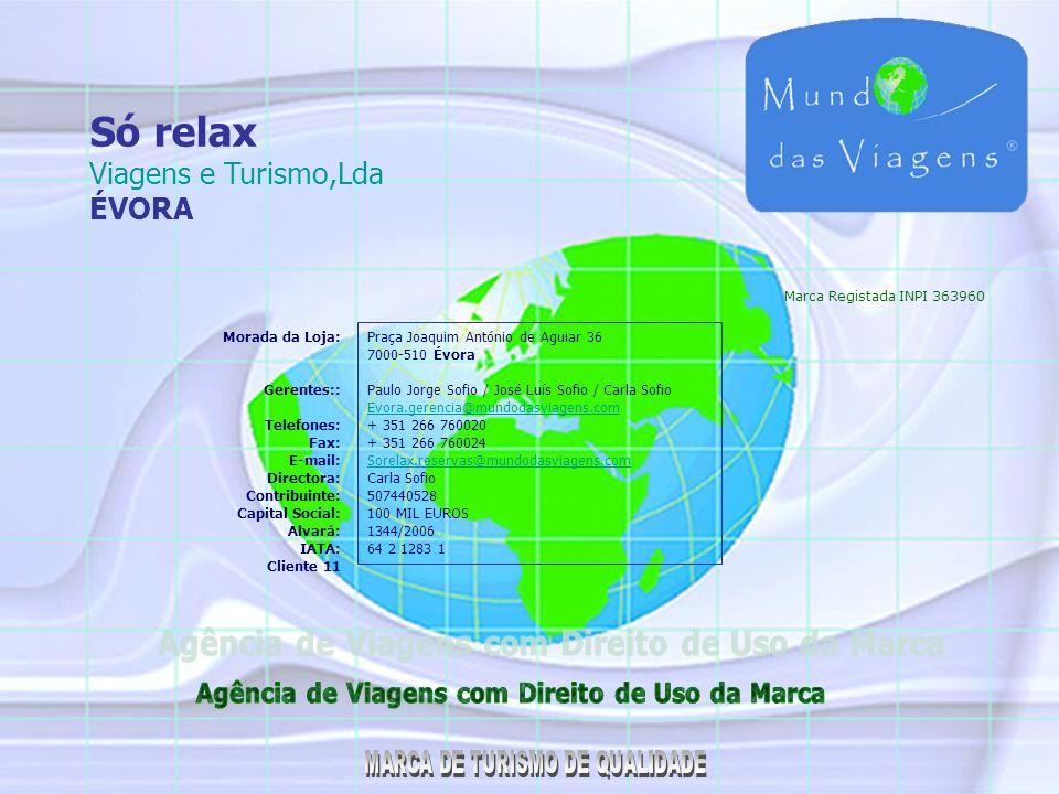 CONSULTOR DE VIAGENS A Marca Mundo das Viagens criou a inovação do Consultor de Viagens, que pretende dimensionar as suas vendas com pontos de venda distribuídos pelo País, funcionando com o controlo do Alvará e Iata da empresa licenciada pelo Turismo de Portugal.