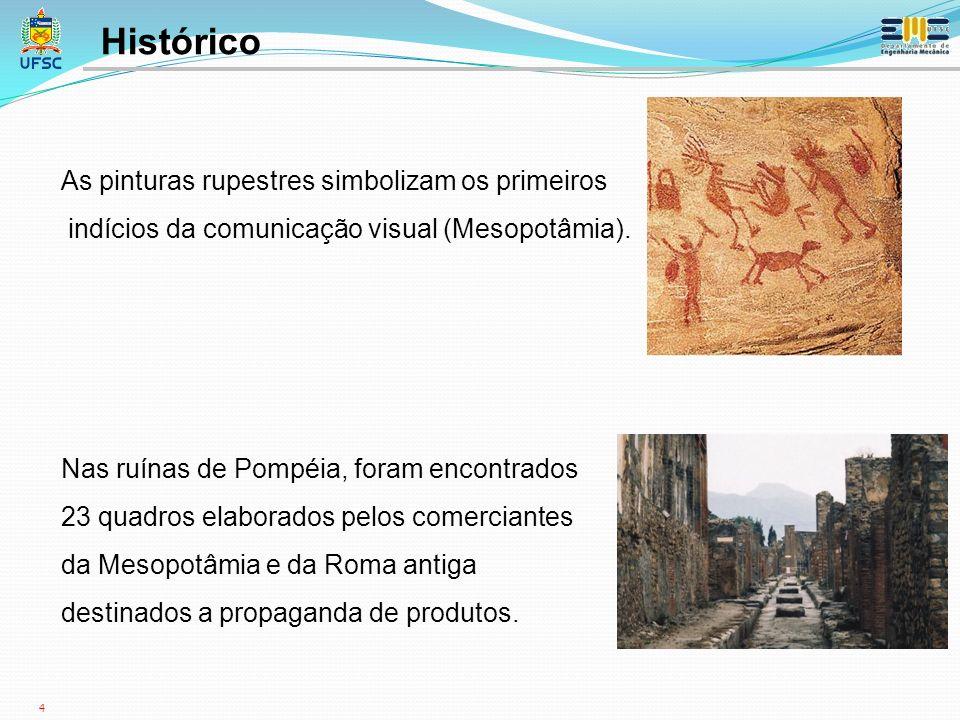 4 Histórico As pinturas rupestres simbolizam os primeiros indícios da comunicação visual (Mesopotâmia).