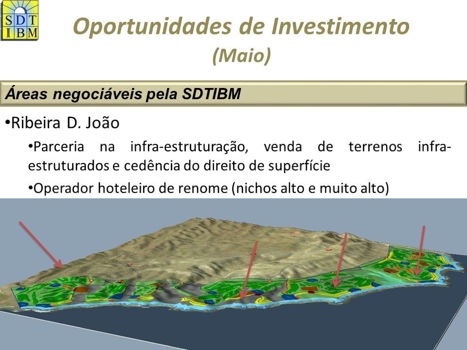 Oportunidades de Investimento Áreas negociáveis pela SDTIBM (Maio)