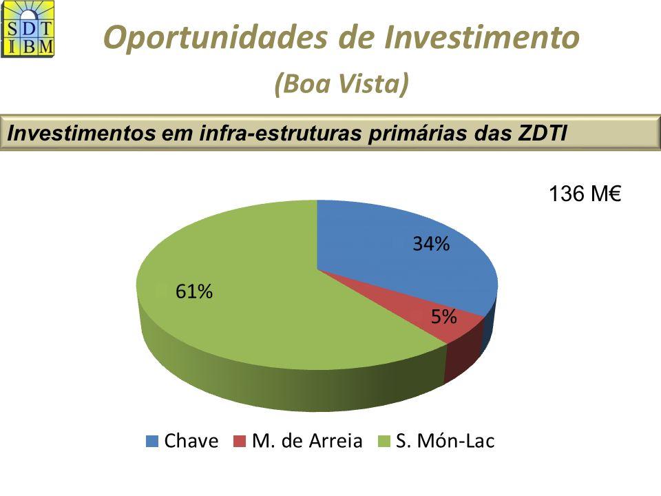 Oportunidades de Investimento Investimentos em infra-estruturas primárias das ZDTI (Boa Vista) RedesChaveM.