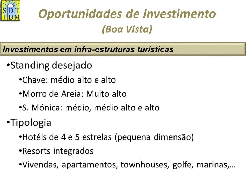 Oportunidades de Investimento Investimentos em infra-estruturas turísticas (Maio) ZDTIHotelariaImob.