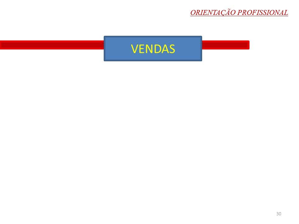 ORIENTAÇÃO PROFISSIONAL VENDAS 30 ORIENTAÇÃO PROFISSIONAL