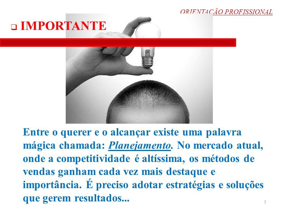 ORIENTAÇÃO PROFISSIONAL TUDO ENVOLVE PLANEJAMENTO 8 1.Primeiro passo 2.Segundo...