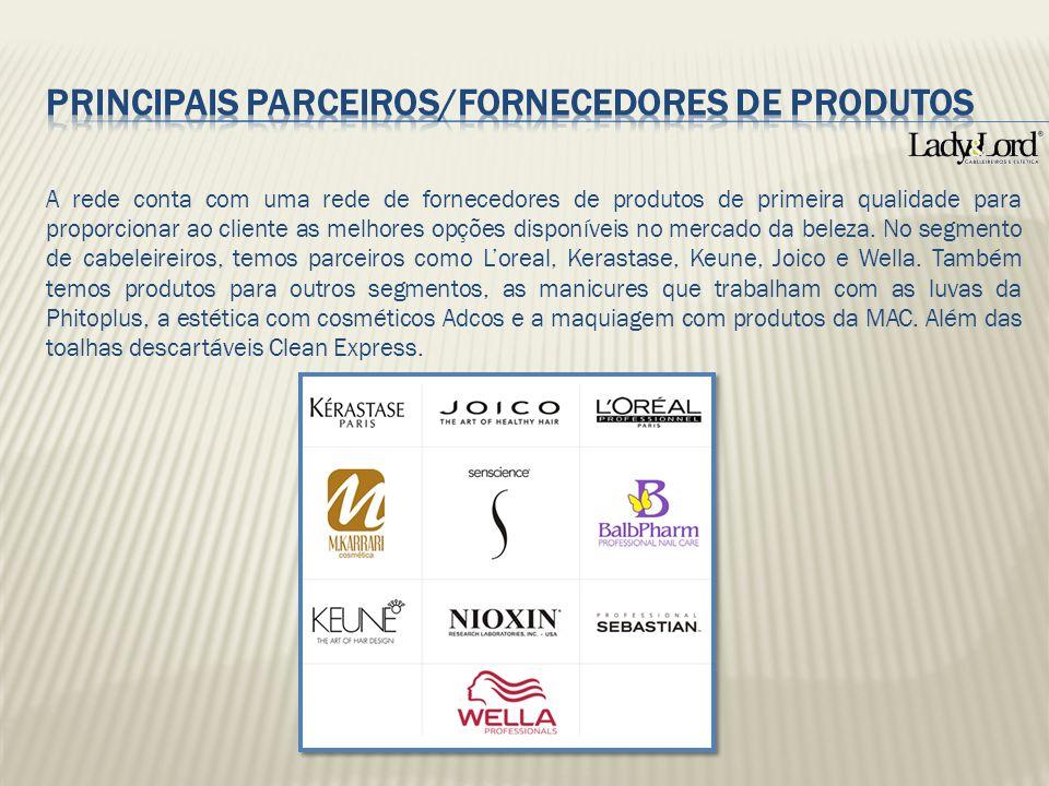 A rede conta com uma rede de fornecedores de produtos de primeira qualidade para proporcionar ao cliente as melhores opções disponíveis no mercado da