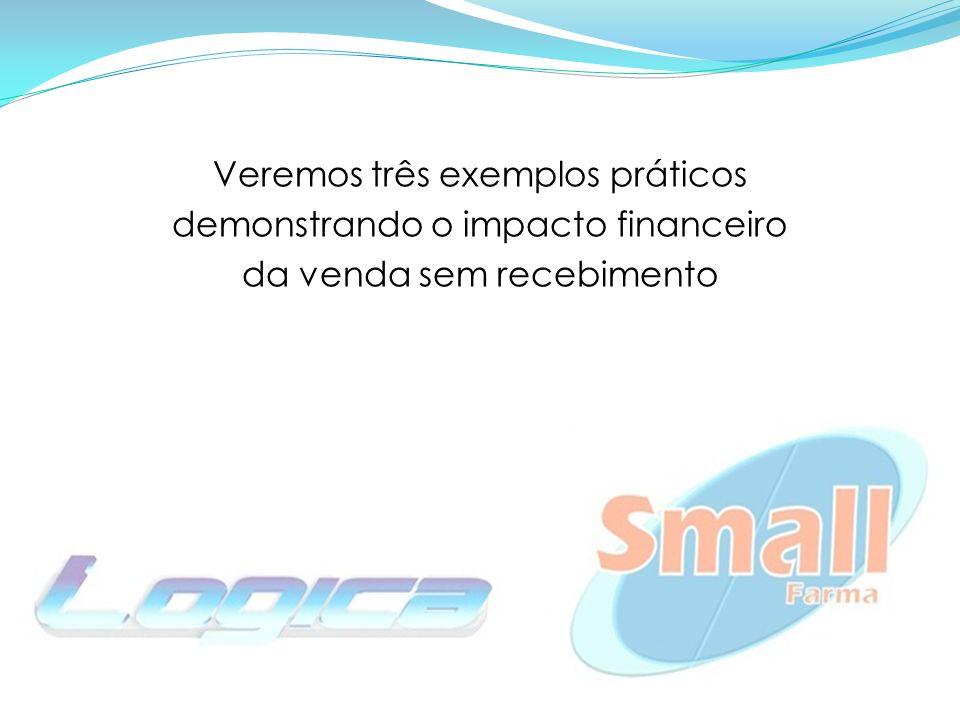 Veremos três exemplos práticos demonstrando o impacto financeiro da venda sem recebimento