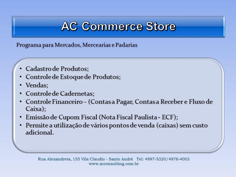 Programa para Mercados, Mercearias e Padarias Cadastro de Produtos;Cadastro de Produtos; Controle de Estoque de Produtos;Controle de Estoque de Produt