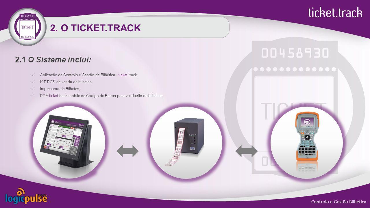 2. O TICKET.TRACK 2.1 O Sistema inclui: Aplicação de Controlo e Gestão de Bilhética - ticket.track; KIT POS de venda de bilhetes; Impressora de Bilhet