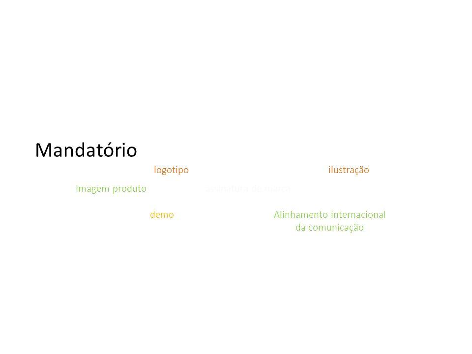 Mandatório Imagem produto Alinhamento internacional da comunicação assinatura de marca demo logotipoilustração